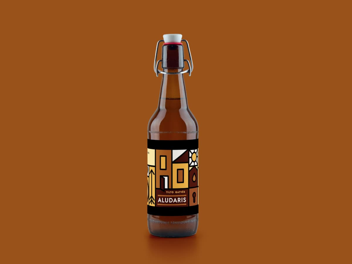 """Tilto gatvės aludaris"" alaus etiketė"