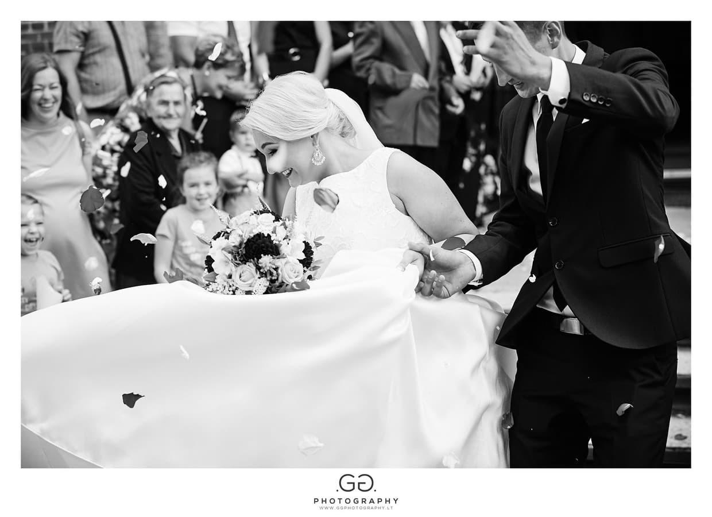 Vestuvių dienos akimirka