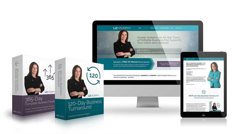 Interneto svetainės ir skaitmeninio produkto dizainas skaitmeninio marketingo lyderei JAV Liz Murphy.