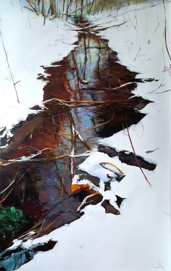 Upelis. 80 x 50 cm. al. dr.