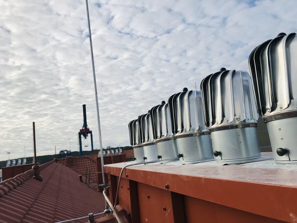 Montuojame kaminų, ventiliacijų vėjo turbinas