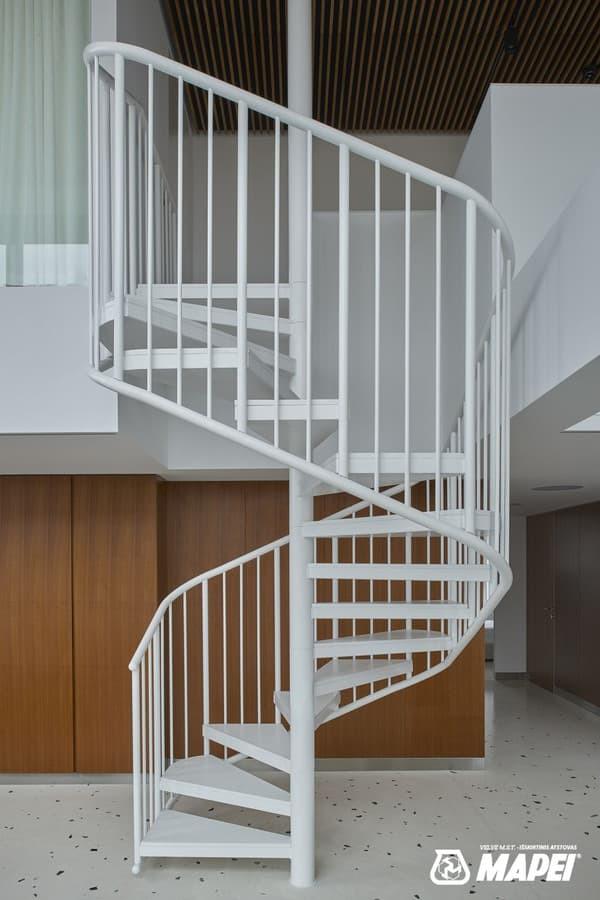 ULTRATOP TERRAZZO grindų sistema Photo credits: Darius Petrulaitis ; Interior design: Inblum