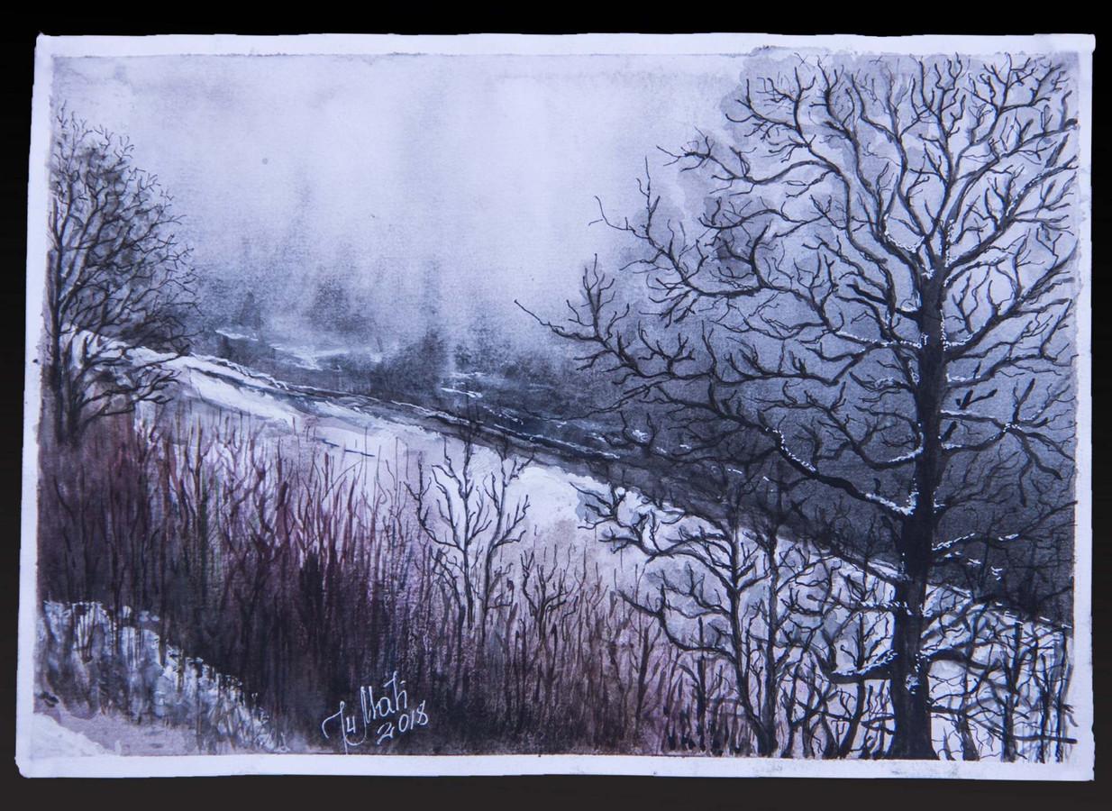 A4, akvarelė