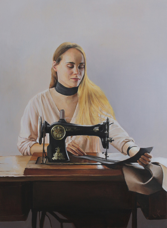 Portretų tapyba aliejiniais dažais ant drobės