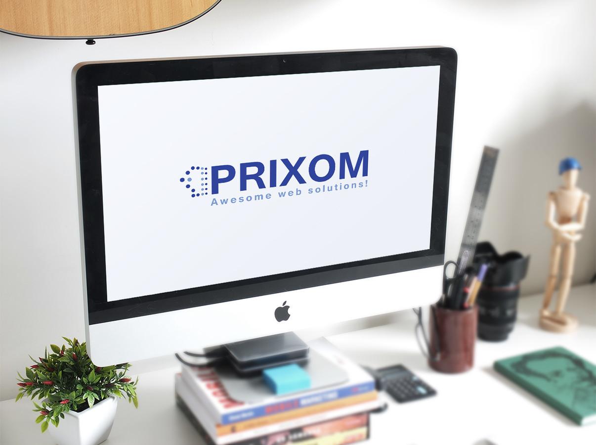 """Logotipas internetinius puslapius kuriančiai įmonei """"Prixom"""""""