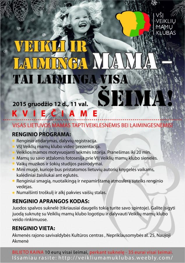 Skelbimas/plakatas į renginį