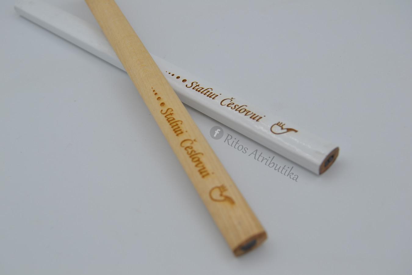 Asmeninis staliaus, dailidės, statybininko pieštukas