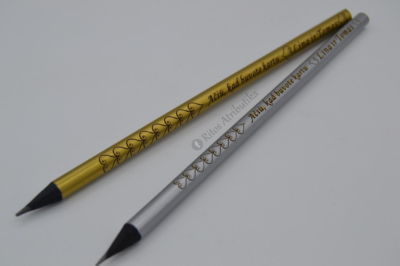 Graviruotas pieštukas vestuvių, krikštynų atminimo dovana