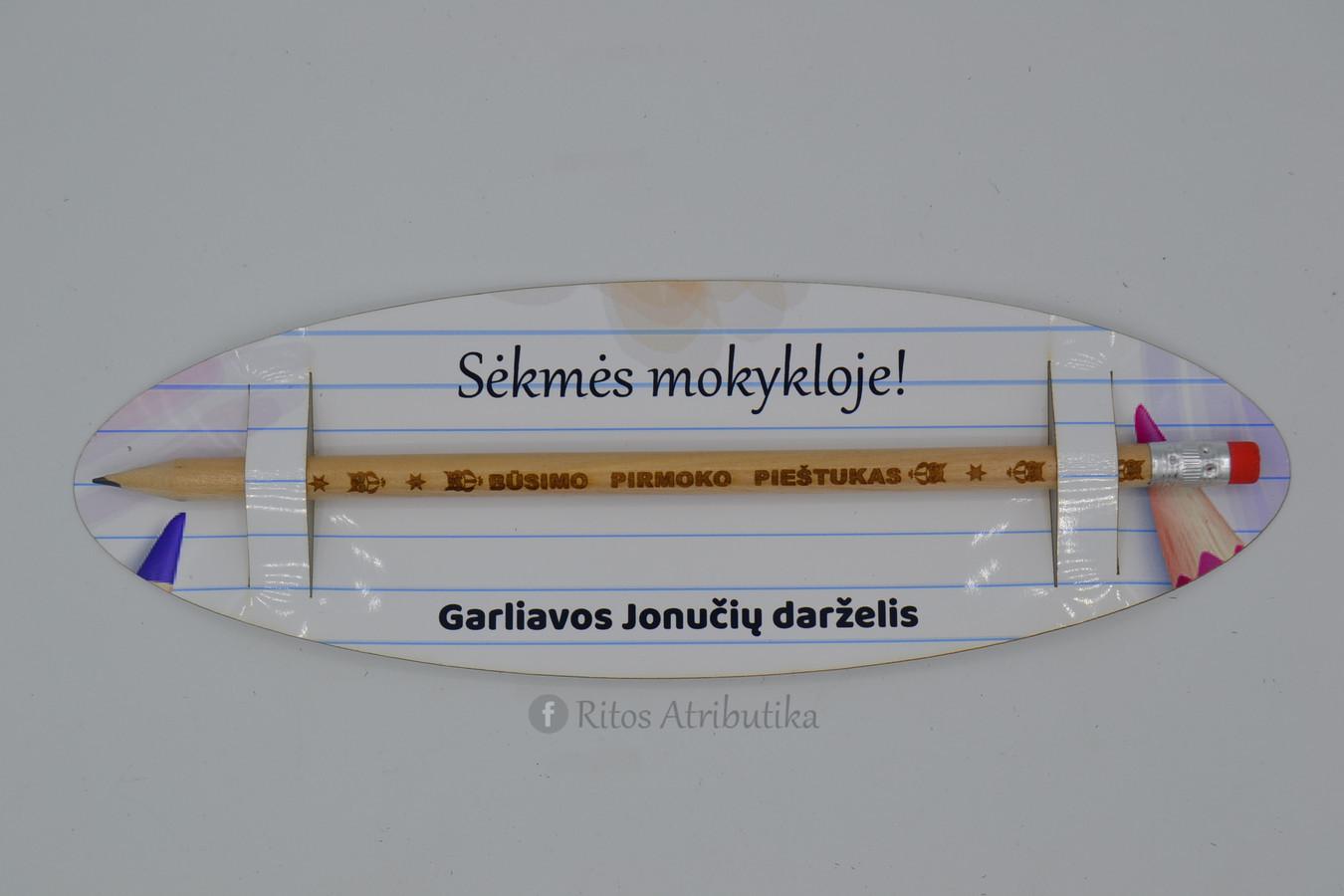 Asmeninis graviruotas pieštukas vaikui darželio išleistuvių proga