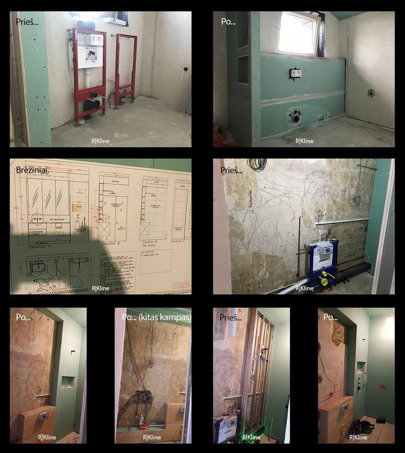 Atlikti darbai:  -potinkinių wc/dušų apdirbimas GKPI ar kitomis plokštėmis.