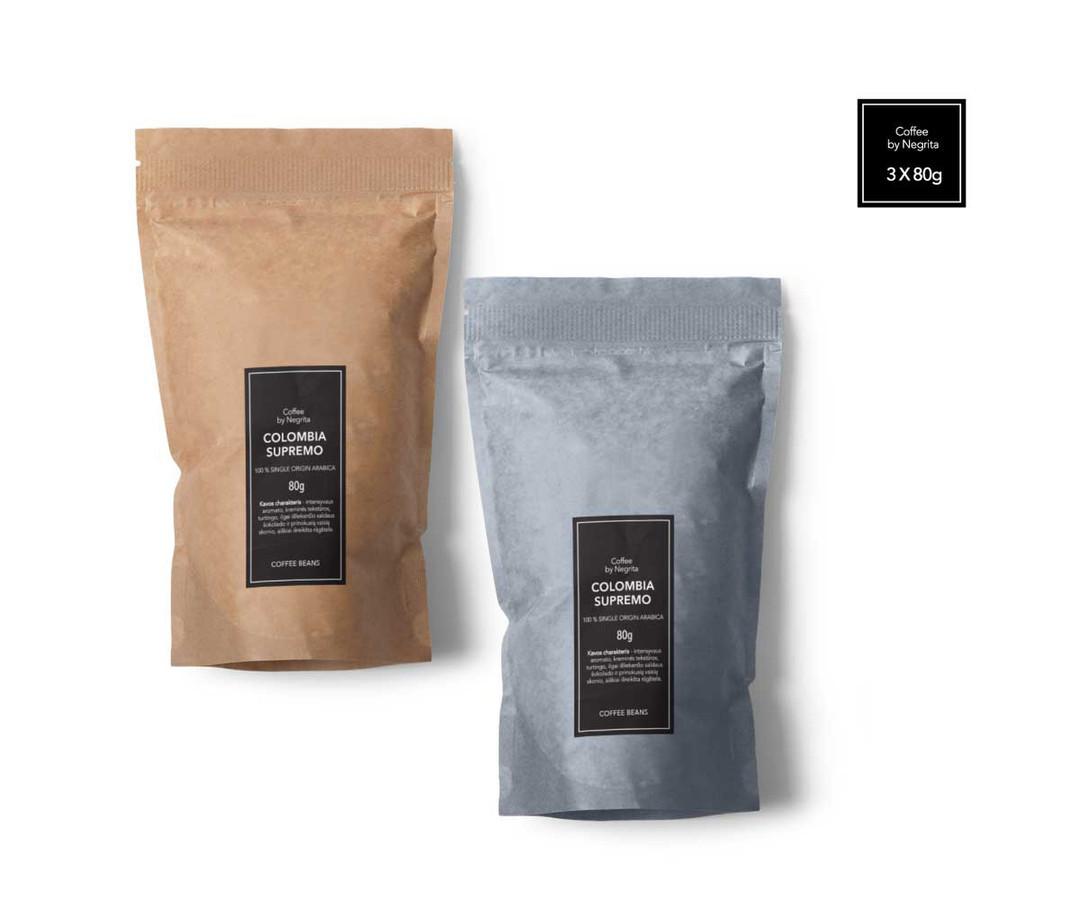 Kavos pakuotės koncepcija
