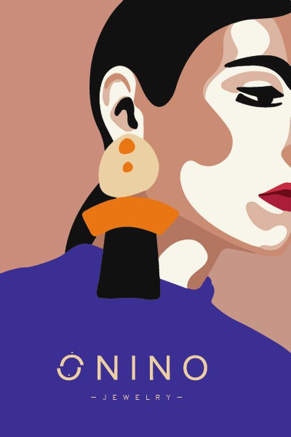 logotipas ,, ONINO,, tai gintaro ir medvilnes papuosalai, sukurti isskirtiniai moreriai kuri nebijo spalvu ir isskirtinumo