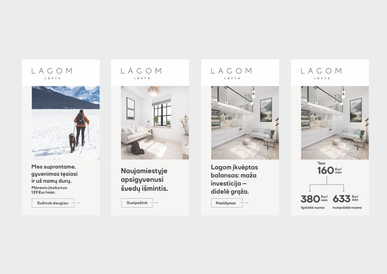 Lagom Lofts banerių sukūrimas, BuildMe