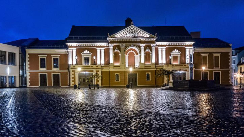 Klaipėdos dramos teatro fasado apšvietimo projektas
