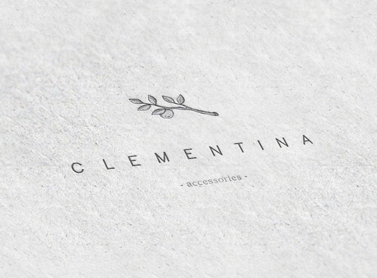 Logotipas papuošalų kūrėjai Clementina