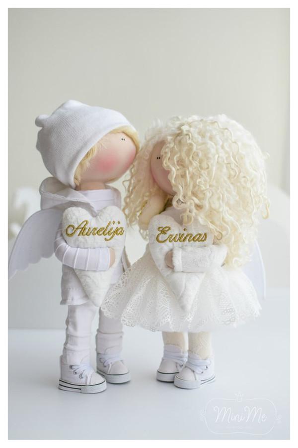 Rankų darbo interjerinė lėlė angelas