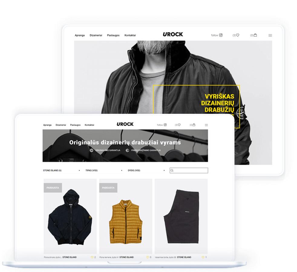 """Įmonė """"Urock"""" vykdo nenaujų drabužių, avalynės bei aksesuarų prekybą tarptautinių mastu. Visa apranga ir jos detalės skirta išskirtinai vyrams."""