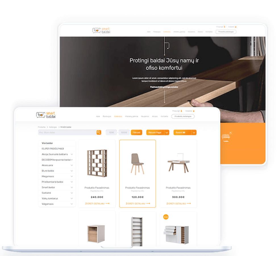 """Internetinė parduotuvė """"Smart baldai"""" atstovauja """"Magrės baldai"""", """"VOX"""", bei """"Cilek"""" gamintojų baldus."""