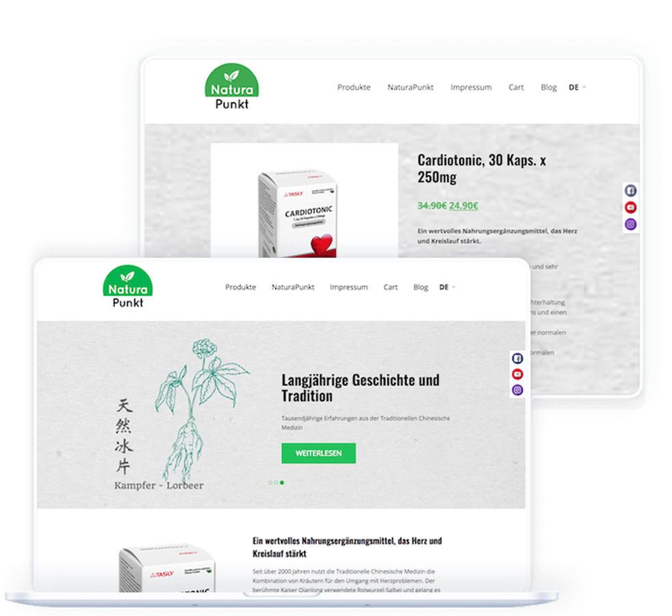 """Internetinės svetainė buvo sukurta pristatyti vieną iš kompanijos """"NaturaPunkt GmbH"""" produktų Vokietijos rinkoje."""