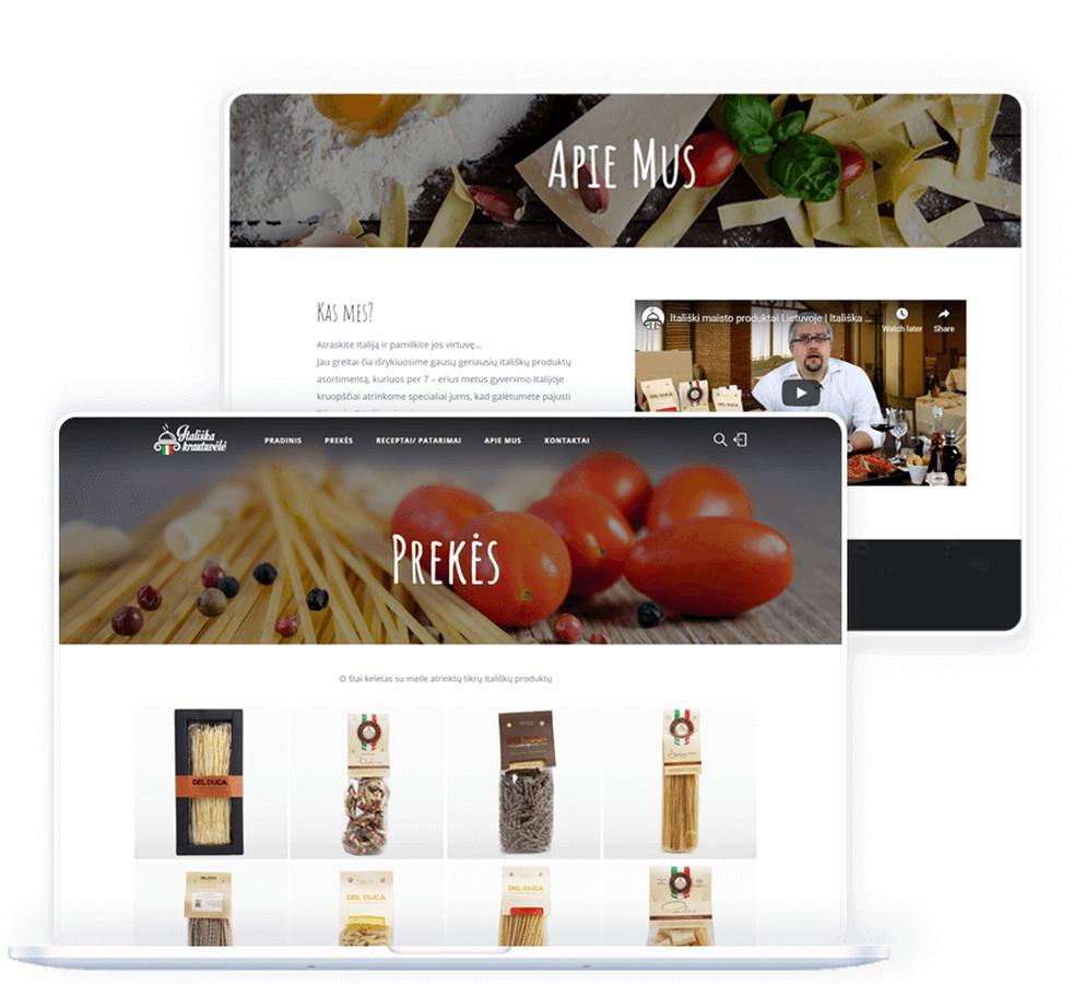 Internetinė maisto produktų parduotuvė, kurioje pateikiamas iš Italijos importuojamų produktų asortimentas.