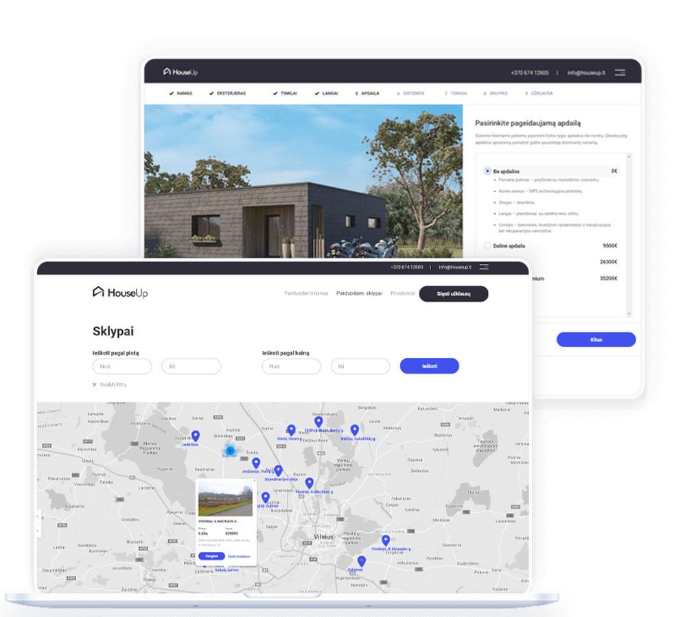 """UAB """"HouseUp"""" – tai nekilnojamojo turto vystymo kompanija, plėtojanti inovatyvius individualių namų statybos projektus."""