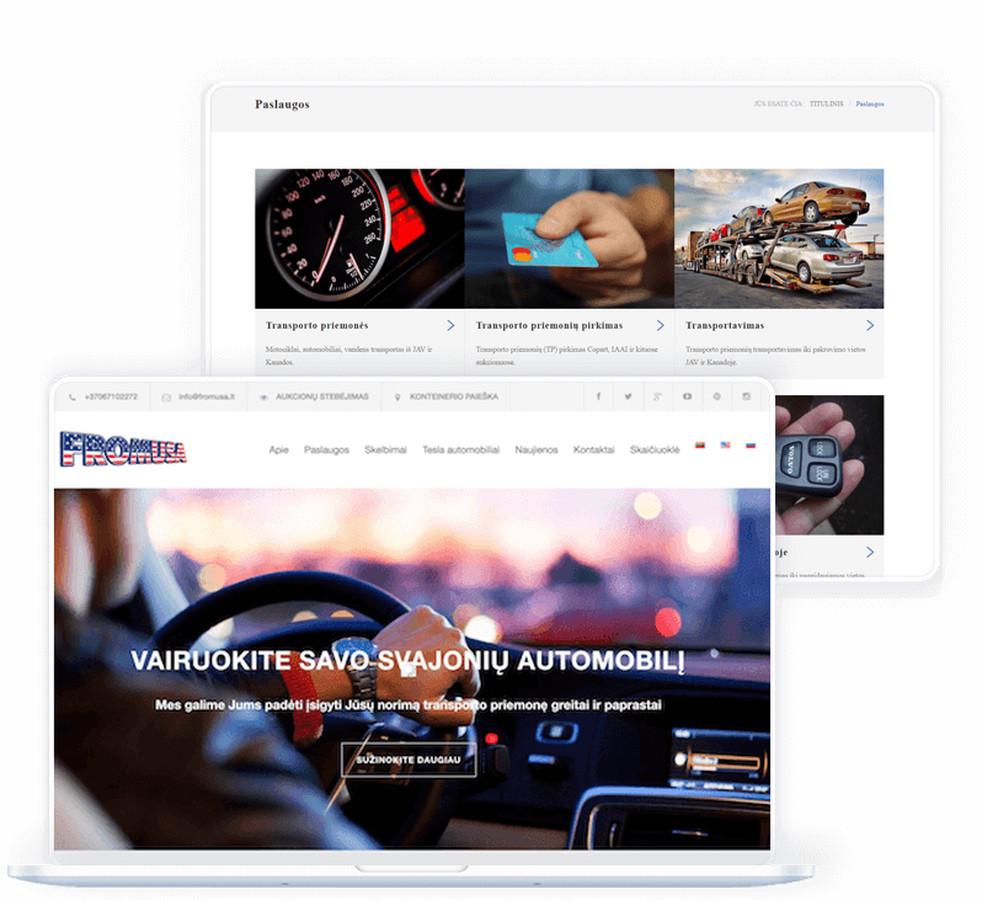 """""""Fromusa"""" prekinis ženklas dirba su transporto priemonių aukcionų platformomis: """"COPART"""", """"IAAI"""" ar """"IMPACT""""."""