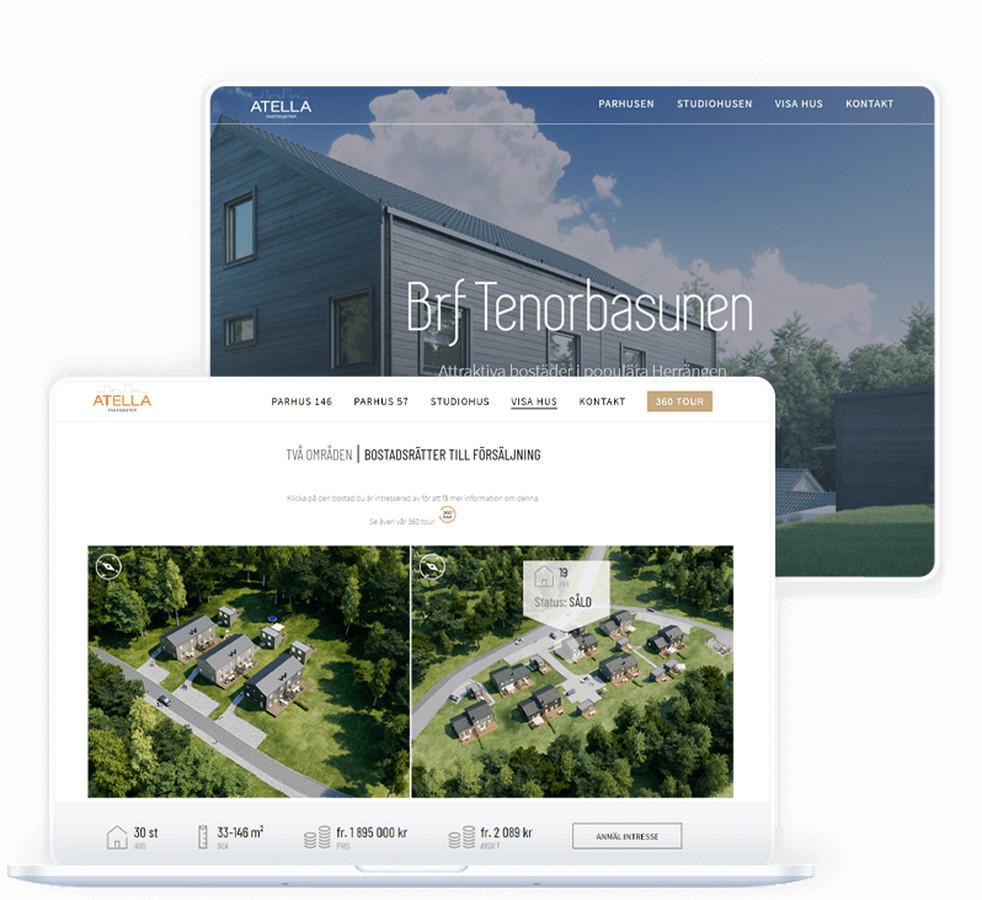 """""""Atella"""" nekilnojamojo turto vystymo bendrovė, kurios pagrindinis dėmesys skiriamas nekilnojamojo turto plėtrai ir būsto įsigijimo vystymui Švedijos regionuose."""
