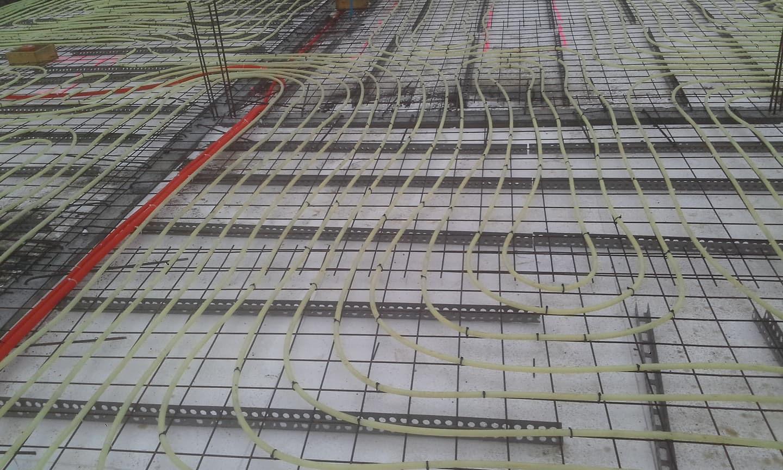 Gamybinių patalpų šildomų grindų įrengimas