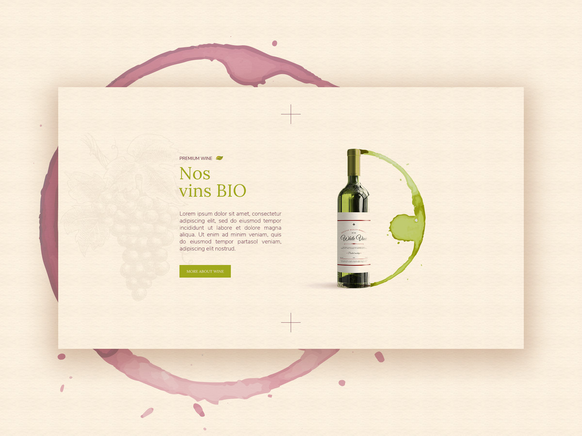 le Cave de Virebent - Wine shop in France   |   Web design UI UX   | 