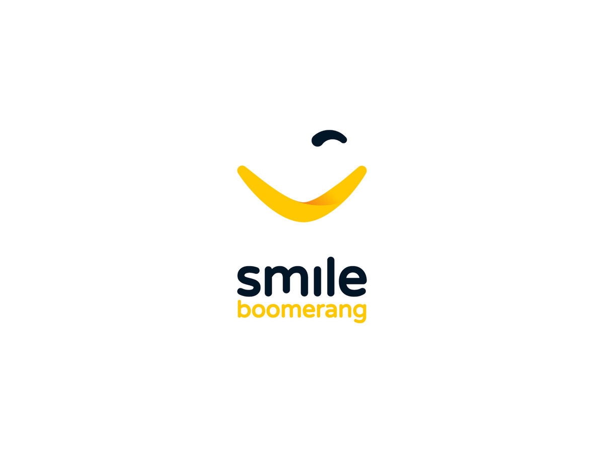 Smile boomerang - Give a smile and get one back ↓↓↓ Interactive Artificial Intelligence (AI) solution designed for hotels ↓↓↓ Used by client ↓↓↓ Logotipų kūrimas - www.glogo.eu - logo creation.