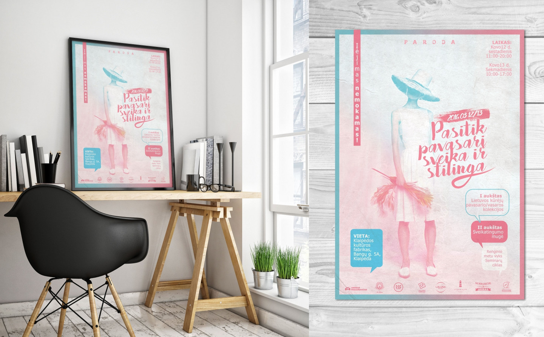 Renginio plakato dizainas