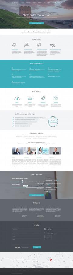 Finneo faktoringas - svetainės dizainas http://finneo.lt