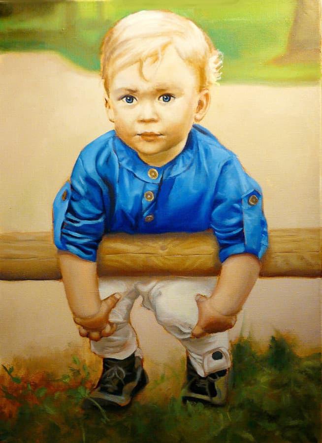 Vaikų krikštynų, gimtadienių portretų tapyba.