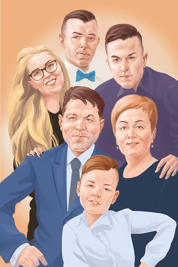 Šeimos portretas - dovana tėvų vedybų jubiliejaus proga