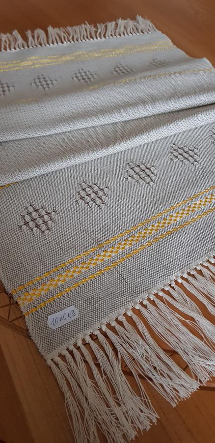 Mereškuotas medvilnės-lino takas su šilku 1,00×0,43 m.