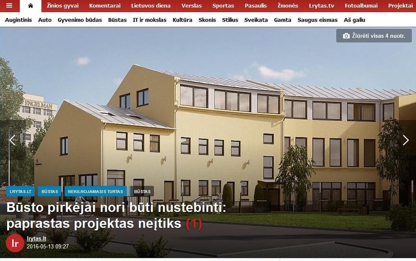 """NT projektas """"Karaliaus Mindaugo apartamentai"""" portale lrytas.lt Komunikacijos I etape - publikacijos kartą per mėnesį."""