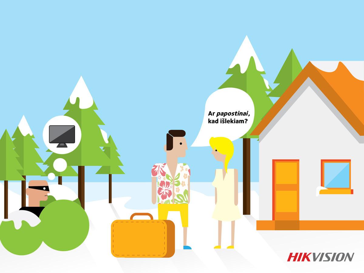 Prekės ženklo Hikvision komunikacijos kampanija facebook.
