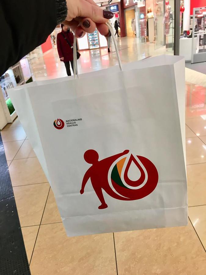 Logotipas sukurtas Nacionalinio Kraujo Donorystės turui