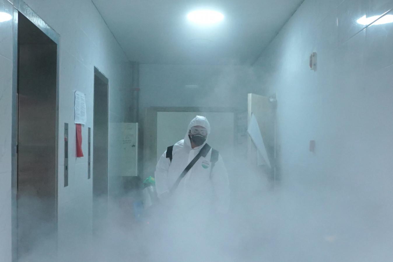 Patalpų dezinfekcija rūko generatoriais.