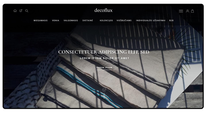 """Lietuvių gamintojas """"Decoflux"""" yra žinomas ir išsikovojęs puikią reputaciją tiek Lietuvos, tiek ir užsienio rinkose. """"Decoflux"""" gamina itin aukštos kokybės ir unikalaus dizaino patalynės komplektus."""