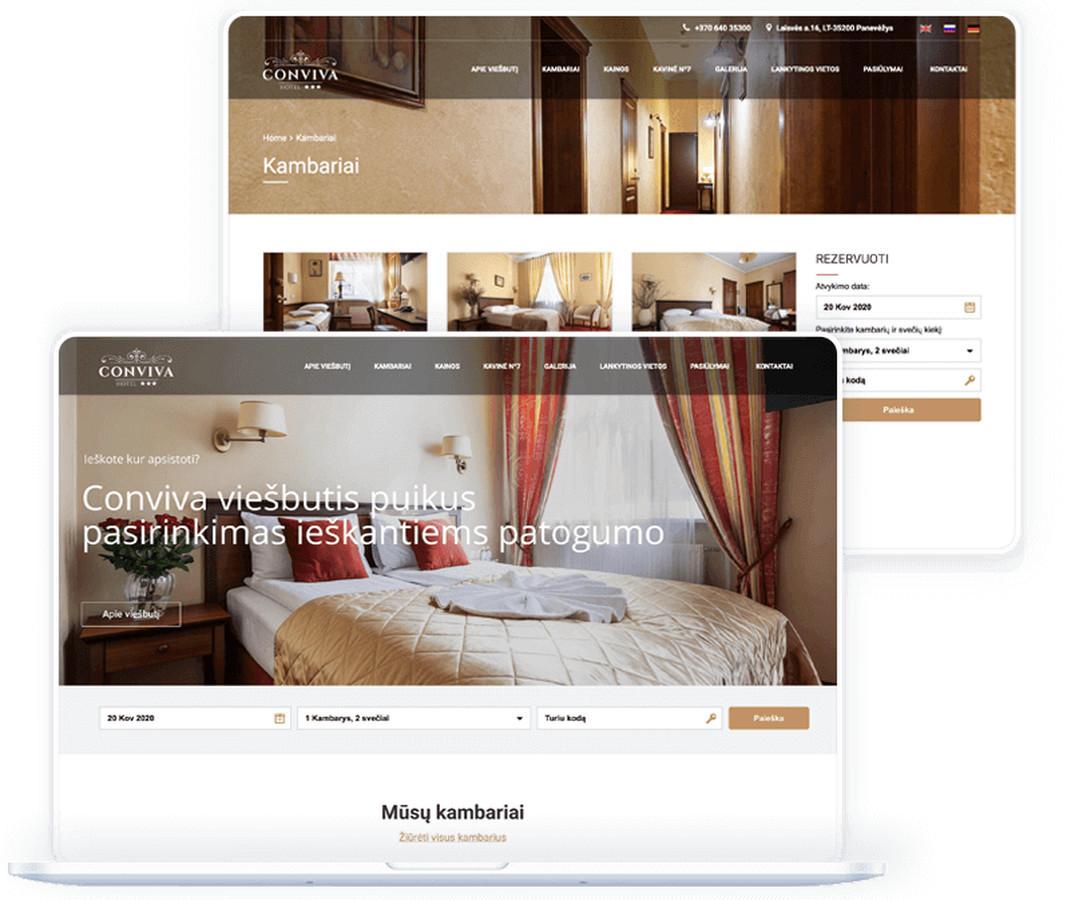 """""""Conviva"""" – nedidelis, jaukus trijų žvaigždučių viešbutis, siūlantis 10 puikiai įrengtų kambarių ieškantiems viešnagės Panevėžio mieste."""