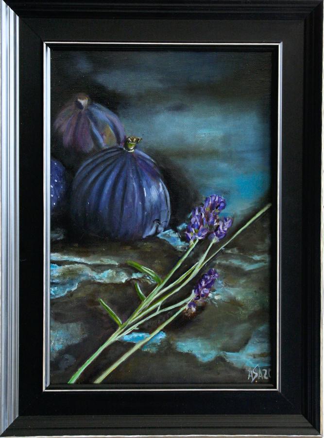 """""""Figs"""",20x30 cm, aliejiniai dazai,drobe,medinis remelis.Parduodamas"""
