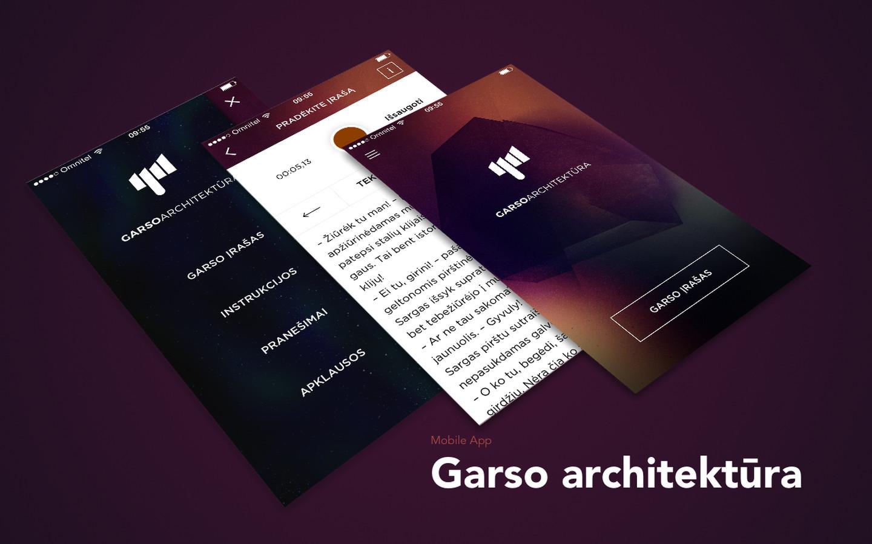 https://itunes.apple.com/us/app/garso-architektura/id1101150206?mt=8 https://play.google.com/store/apps/details?id=lt.imas.garsoarch