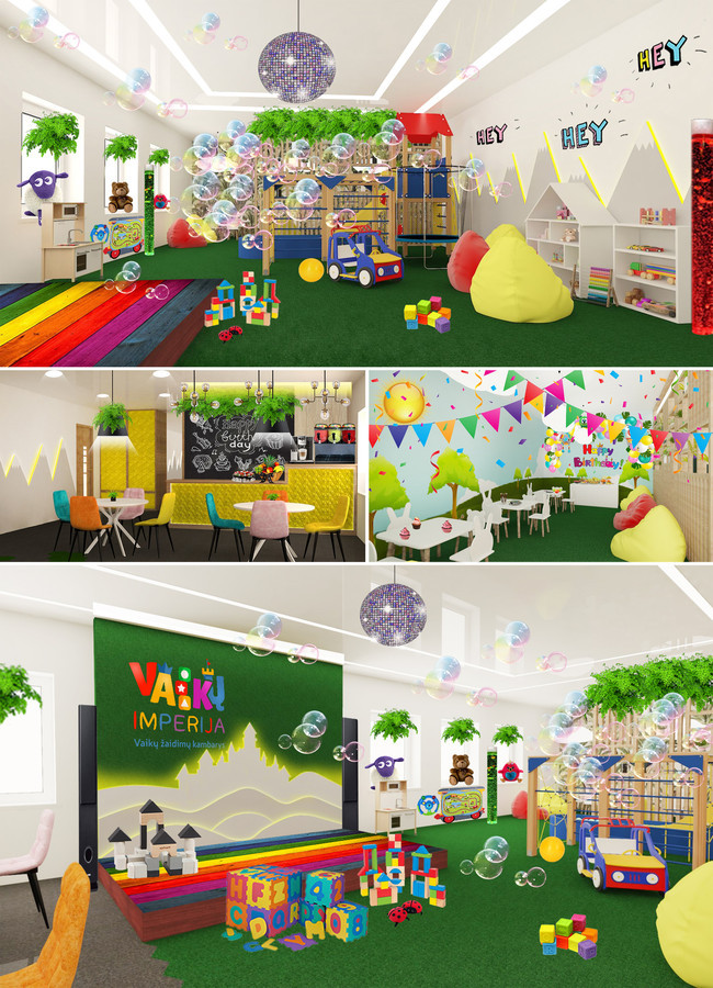 Vaikų žaidimų kambarys. Pakruojis.