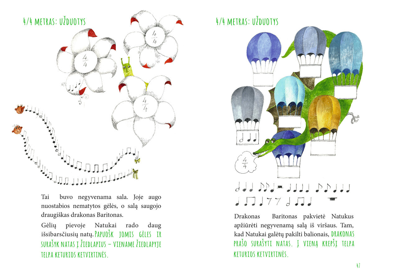 """Iliustracijos knygelei """"Natukai iš muzikėnų šalies"""" http://www.chorasugnele.lt/natukai/"""