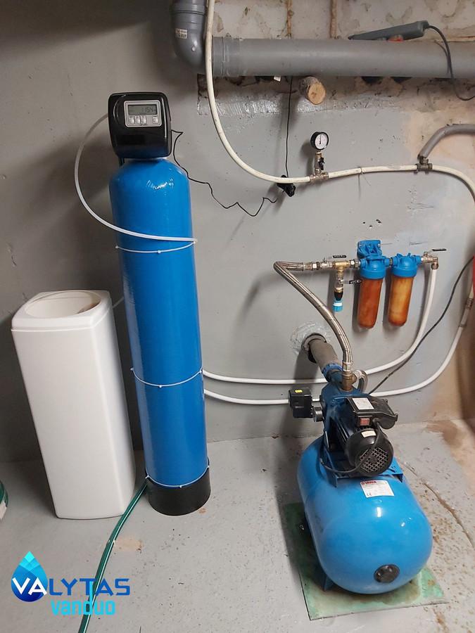 Sumontuota vandens gerinimo sistema Kėdainiuose. Papildomai padarytas laistymo mazgas.