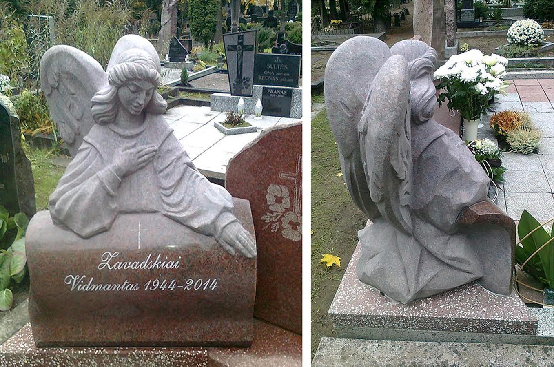 Antkapinė skulptūra, Eigulių kapinėse, Kaune. Granitas, h - 70cm.