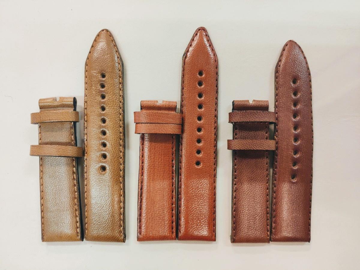 Vienetinė ir serijinė odinių laikrodžio apyrankių gamyba.