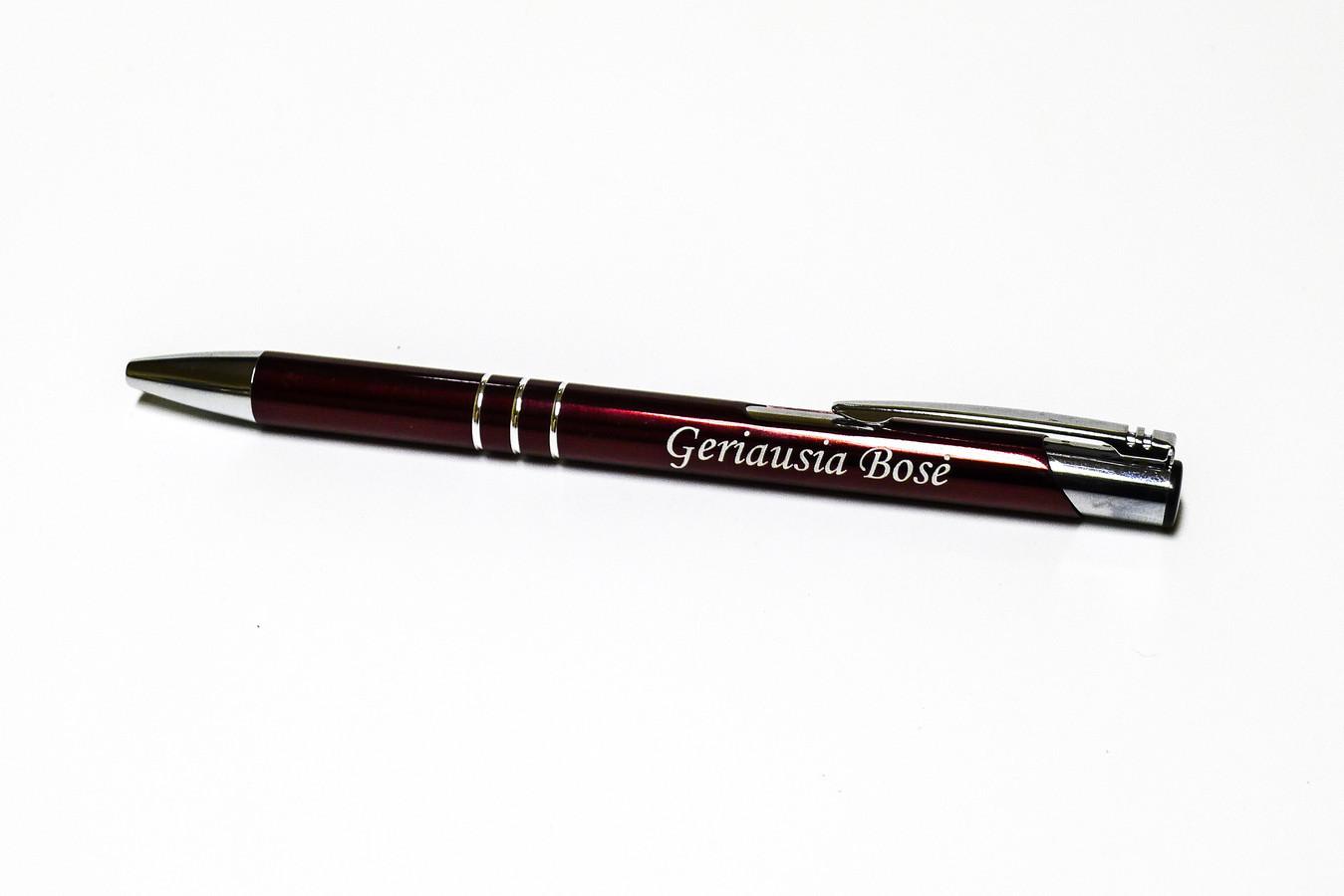 Graviruoti tušinukai, rašikliai, parkeriai su Jūsų pasirinktu tekstu ar logotipu