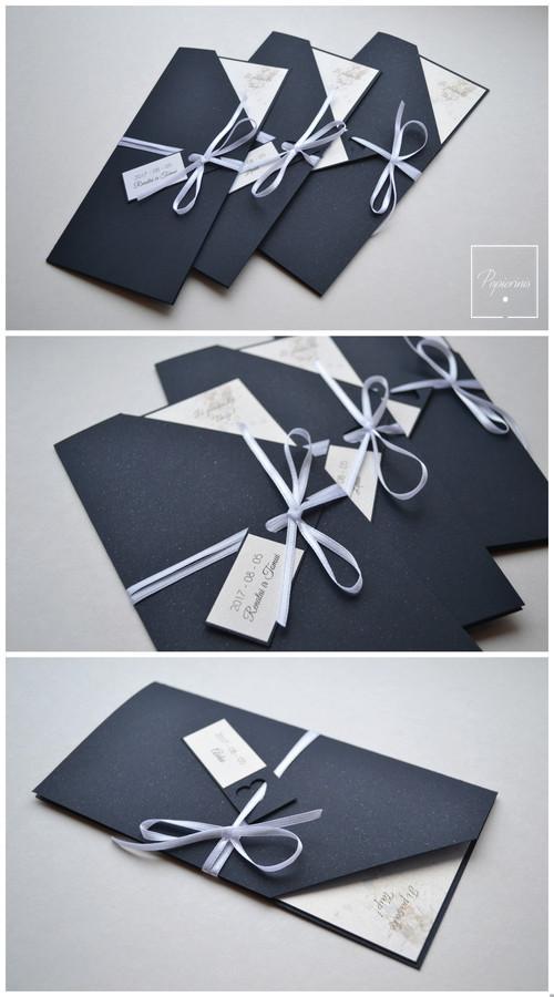 Kvietimas į vestuves. Dydis - 100 x 200. Dvi dalys - kvietimo pagrindas su tekstu ir kaspinėliu bei vardo kortelė. Kokybiška spauda + rankų darbas.